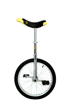 Qu-Ax Luxus Trainer eenwieler chroom 20 inch
